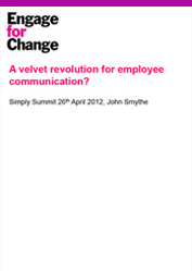 A Velvet Revolution for employee communication